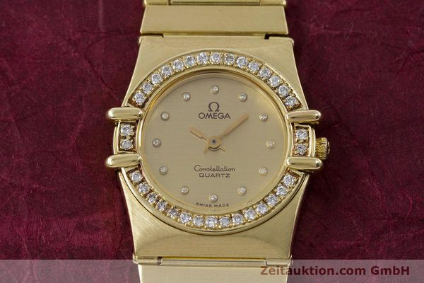 Used luxury watch Omega Constellation 18 ct gold quartz Kal. 1450  | 160571 15