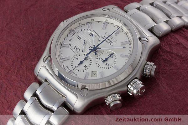 Used luxury watch Ebel 1911 chronograph steel automatic Kal. E137 Ref. E9137L70  | 160578 01