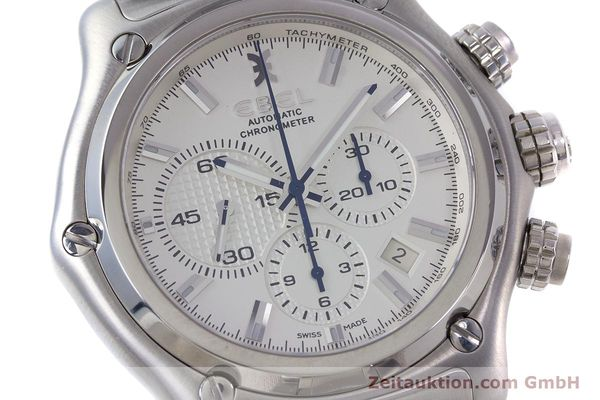 Used luxury watch Ebel 1911 chronograph steel automatic Kal. E137 Ref. E9137L70  | 160578 02
