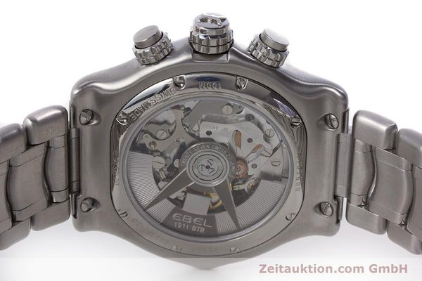 Used luxury watch Ebel 1911 chronograph steel automatic Kal. E137 Ref. E9137L70  | 160578 09