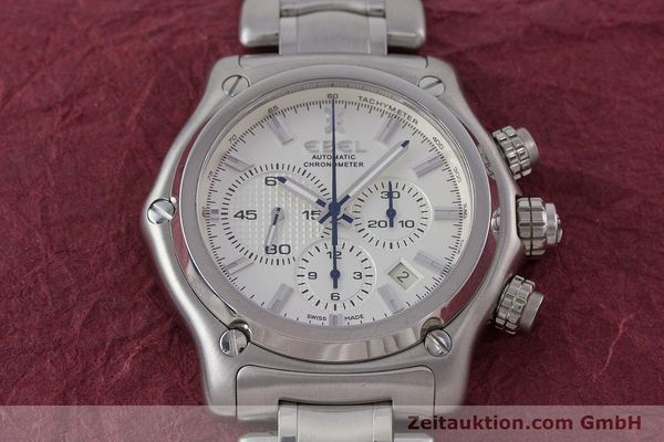 Used luxury watch Ebel 1911 chronograph steel automatic Kal. E137 Ref. E9137L70  | 160578 17