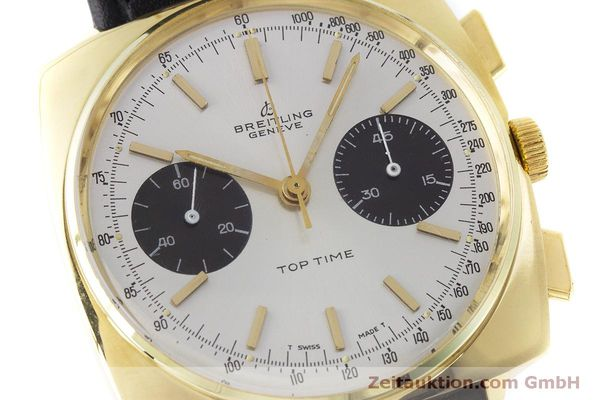 Used luxury watch Breitling Top Time chronograph gold-plated manual winding Kal. Valj. 7733 Ref. 2008 VINTAGE  | 160579 02