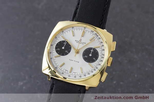 Used luxury watch Breitling Top Time chronograph gold-plated manual winding Kal. Valj. 7733 Ref. 2008 VINTAGE  | 160579 04