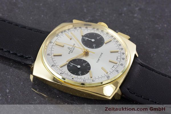 Used luxury watch Breitling Top Time chronograph gold-plated manual winding Kal. Valj. 7733 Ref. 2008 VINTAGE  | 160579 14