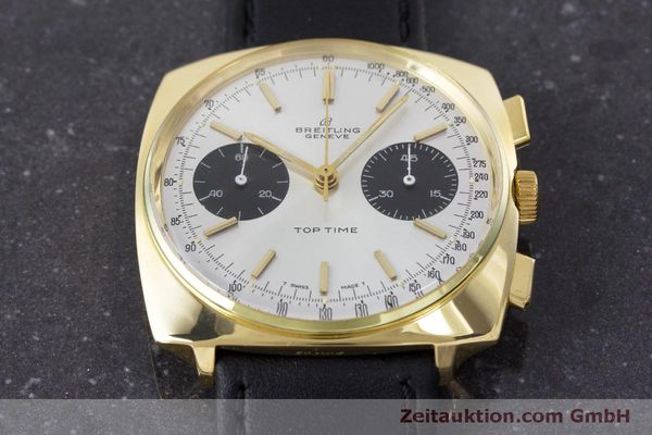 Used luxury watch Breitling Top Time chronograph gold-plated manual winding Kal. Valj. 7733 Ref. 2008 VINTAGE  | 160579 15