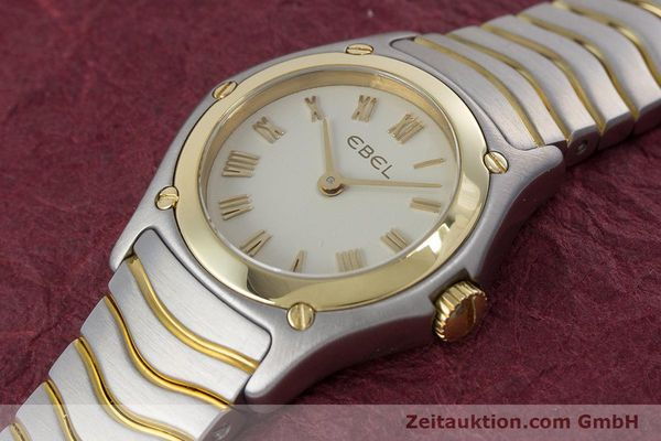 Used luxury watch Ebel Classic Wave steel / gold quartz Kal. 157 Ref. 1157F11  | 160584 01