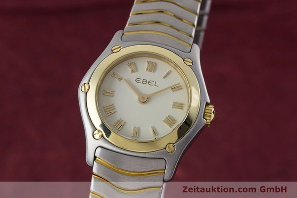 Used luxury watch Ebel Classic Wave steel / gold quartz Kal. 157 Ref. 1157F11  | 160584 04