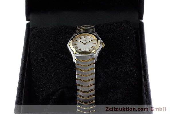 Used luxury watch Ebel Classic Wave steel / gold quartz Kal. 157 Ref. 1157F11  | 160584 07
