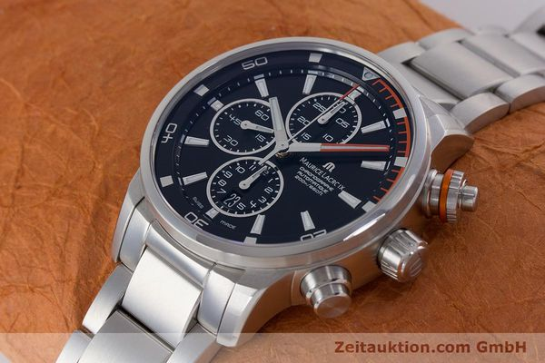 Used luxury watch Maurice Lacroix Pontos chronograph steel automatic Kal. SW 500 Ref. PT6008  | 160595 01