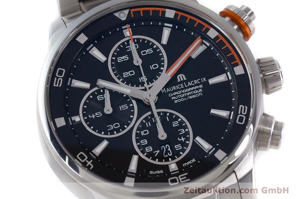 Used luxury watch Maurice Lacroix Pontos chronograph steel automatic Kal. SW 500 Ref. PT6008  | 160595 02