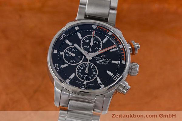 Used luxury watch Maurice Lacroix Pontos chronograph steel automatic Kal. SW 500 Ref. PT6008  | 160595 04