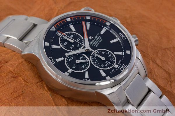 Used luxury watch Maurice Lacroix Pontos chronograph steel automatic Kal. SW 500 Ref. PT6008  | 160595 14
