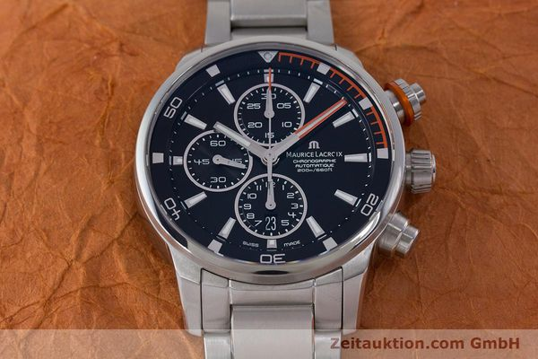 Used luxury watch Maurice Lacroix Pontos chronograph steel automatic Kal. SW 500 Ref. PT6008  | 160595 15