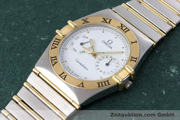 Used luxury watch Omega Constellation steel / gold quartz Kal. 1445 ETA 255472  | 160600 01