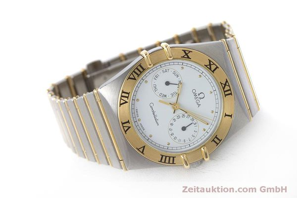 Used luxury watch Omega Constellation steel / gold quartz Kal. 1445 ETA 255472  | 160600 03