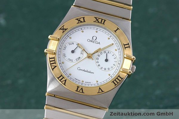 Used luxury watch Omega Constellation steel / gold quartz Kal. 1445 ETA 255472  | 160600 04