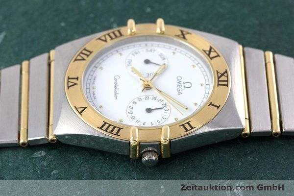 Used luxury watch Omega Constellation steel / gold quartz Kal. 1445 ETA 255472  | 160600 05