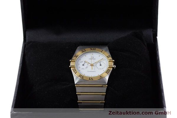 Used luxury watch Omega Constellation steel / gold quartz Kal. 1445 ETA 255472  | 160600 07