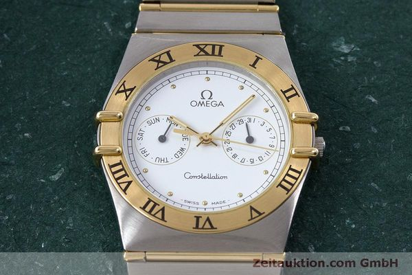 Used luxury watch Omega Constellation steel / gold quartz Kal. 1445 ETA 255472  | 160600 14