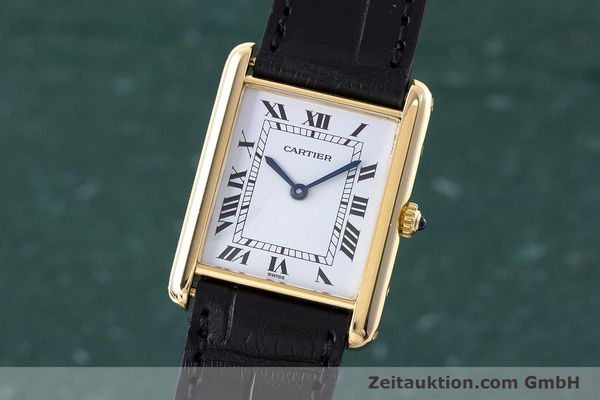 CARTIER TANK ORO 18 CT QUARZO KAL. 81 [160606]
