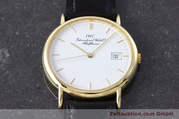 Used luxury watch IWC Portofino 18 ct gold quartz Kal. 2210 ETA 255.411 Ref. 3331  | 160610 16