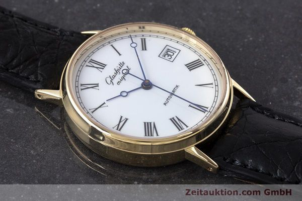 Used luxury watch Glashütte * 14 ct yellow gold automatic Kal. GUB 10-30  | 160613 13