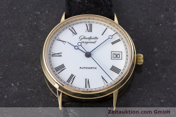 Used luxury watch Glashütte * 14 ct yellow gold automatic Kal. GUB 10-30  | 160613 14