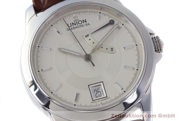 Used luxury watch Union Glashütte Klassik steel automatic Kal. 26  | 160614 02