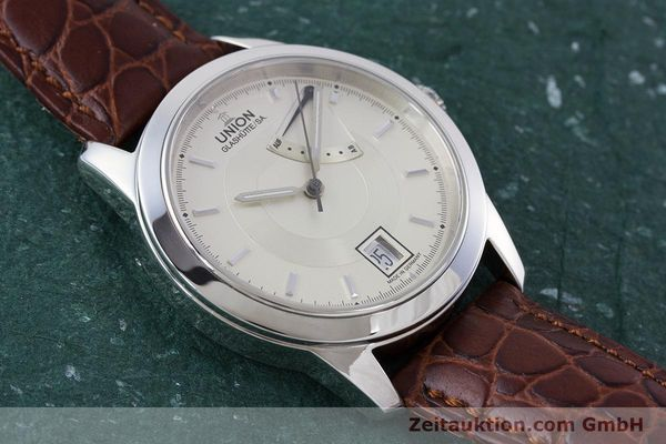 Used luxury watch Union Glashütte Klassik steel automatic Kal. 26  | 160614 14