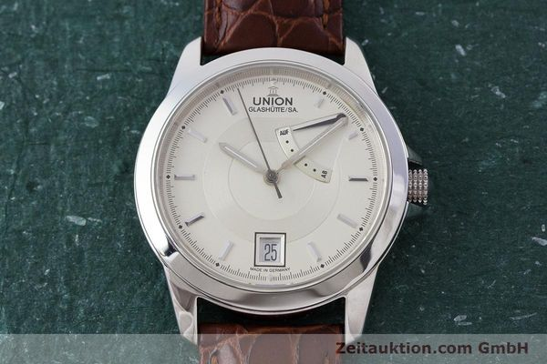 Used luxury watch Union Glashütte Klassik steel automatic Kal. 26  | 160614 15