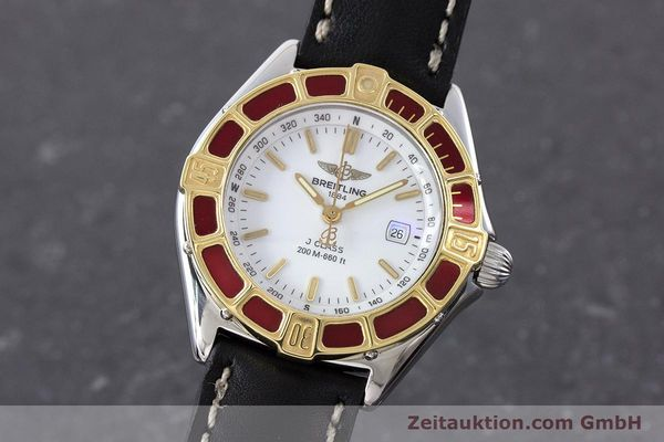 Used luxury watch Breitling J-Class steel / gold quartz Kal. B52 ETA 956112 Ref. D52065  | 160616 04