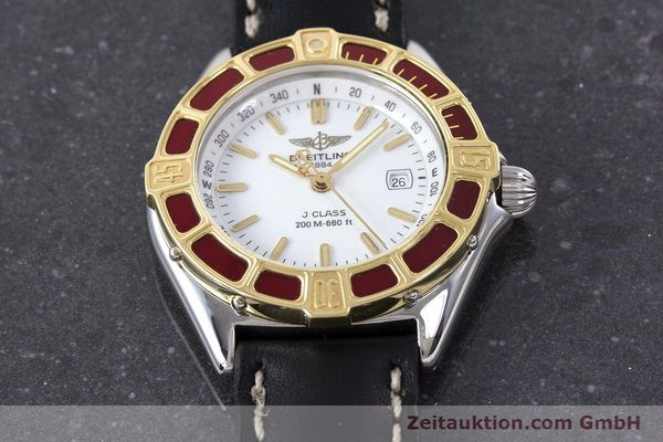 Used luxury watch Breitling J-Class steel / gold quartz Kal. B52 ETA 956112 Ref. D52065  | 160616 13