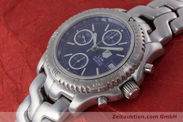 Used luxury watch Tag Heuer Link chronograph steel automatic Kal. ETA 7750 Ref. CT2110  | 160625 01