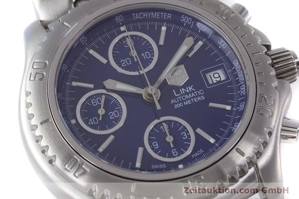 Used luxury watch Tag Heuer Link chronograph steel automatic Kal. ETA 7750 Ref. CT2110  | 160625 02