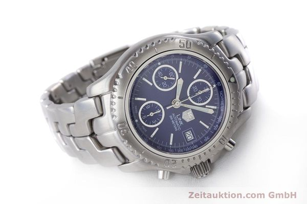 Used luxury watch Tag Heuer Link chronograph steel automatic Kal. ETA 7750 Ref. CT2110  | 160625 03