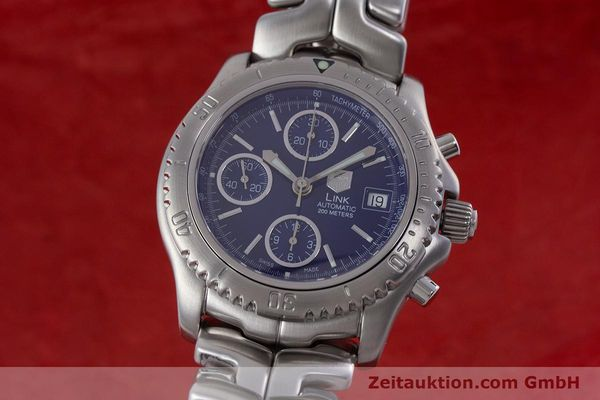 Used luxury watch Tag Heuer Link chronograph steel automatic Kal. ETA 7750 Ref. CT2110  | 160625 04
