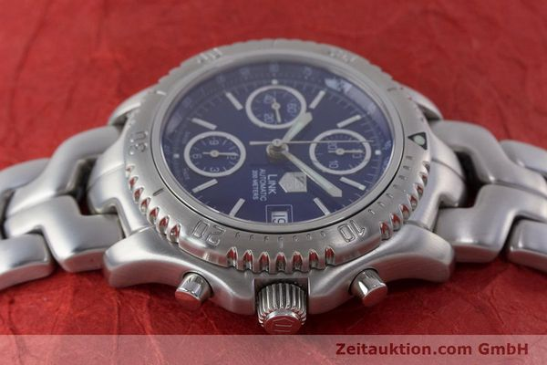 Used luxury watch Tag Heuer Link chronograph steel automatic Kal. ETA 7750 Ref. CT2110  | 160625 05