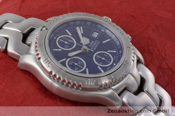Used luxury watch Tag Heuer Link chronograph steel automatic Kal. ETA 7750 Ref. CT2110  | 160625 16
