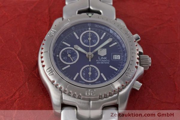 Used luxury watch Tag Heuer Link chronograph steel automatic Kal. ETA 7750 Ref. CT2110  | 160625 17