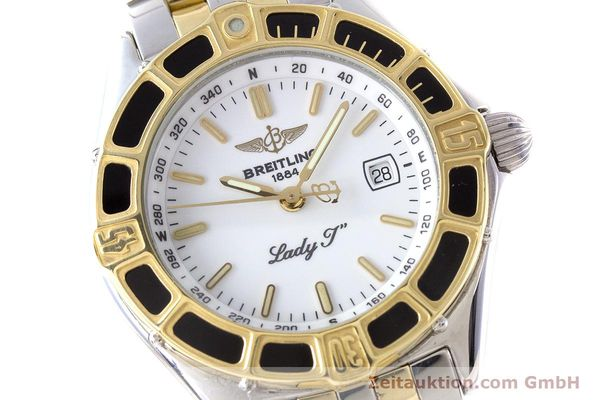 Used luxury watch Breitling Lady J steel / gold quartz Kal. B52 ETA 956112 Ref. D52065  | 160626 02