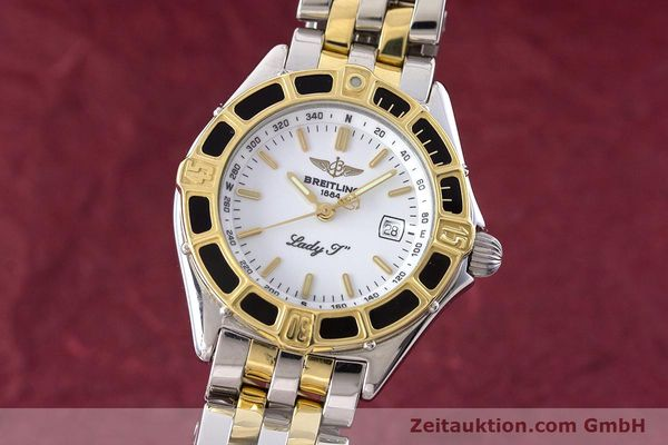 Used luxury watch Breitling Lady J steel / gold quartz Kal. B52 ETA 956112 Ref. D52065  | 160626 04
