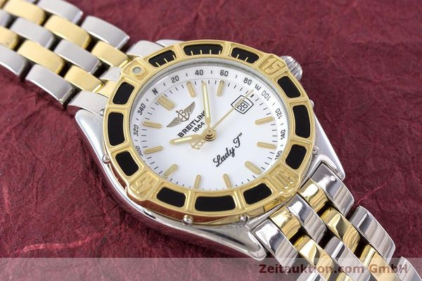 Used luxury watch Breitling Lady J steel / gold quartz Kal. B52 ETA 956112 Ref. D52065  | 160626 14