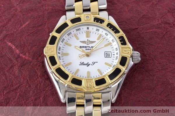 Used luxury watch Breitling Lady J steel / gold quartz Kal. B52 ETA 956112 Ref. D52065  | 160626 15