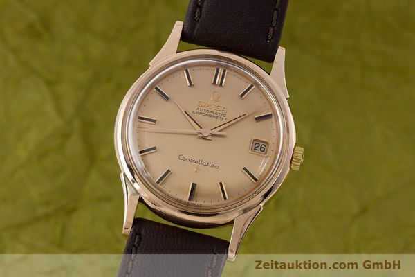 OMEGA 18K ROSÉ GOLD CONSTELLATION AUTOMATIK HERRENUHR VINTAGE 1961 VP: 6710,- Euro [160628]