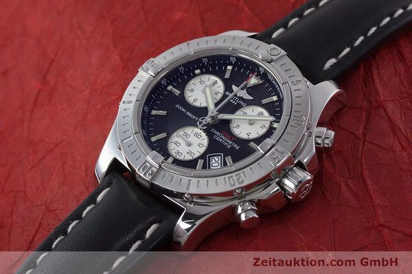 Used luxury watch Breitling Colt chronograph steel quartz Kal. B73 ETA 251.233 Ref. A73380  | 160635 01