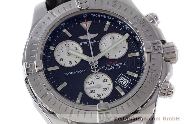 Used luxury watch Breitling Colt chronograph steel quartz Kal. B73 ETA 251.233 Ref. A73380  | 160635 02