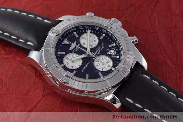 Used luxury watch Breitling Colt chronograph steel quartz Kal. B73 ETA 251.233 Ref. A73380  | 160635 13