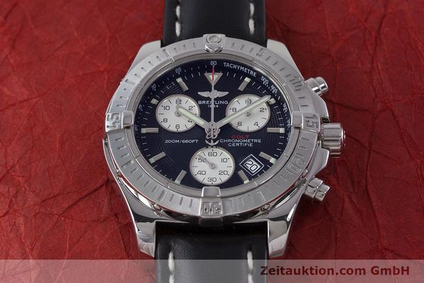 Used luxury watch Breitling Colt chronograph steel quartz Kal. B73 ETA 251.233 Ref. A73380  | 160635 14