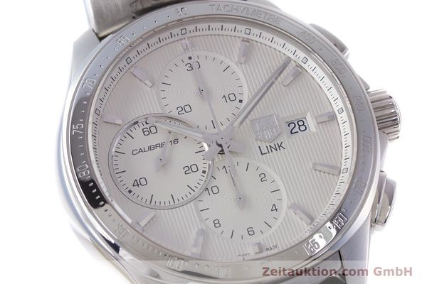 Used luxury watch Tag Heuer Link chronograph steel automatic Kal. 16 ETA 7750 Ref. CAT2011  | 160637 02
