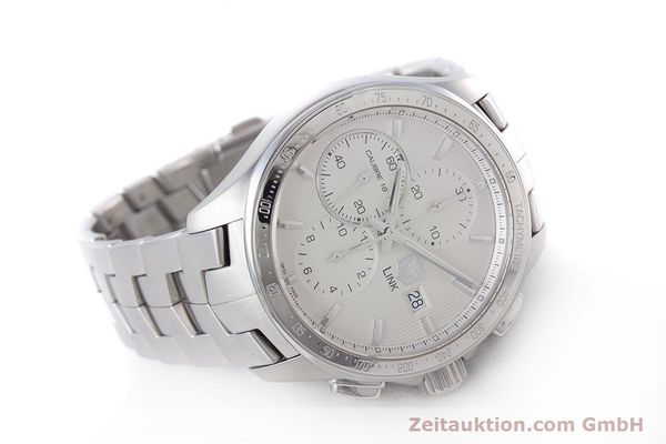 Used luxury watch Tag Heuer Link chronograph steel automatic Kal. 16 ETA 7750 Ref. CAT2011  | 160637 03